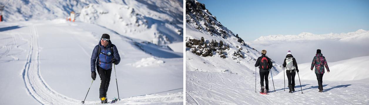 Club de ski de randonnée à Méribel